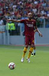 September 16, 2018 - Rome, Italy - Steven Nzonzi during the Italian Serie A football match between A.S. Roma and Chievo at the Olympic Stadium in Rome, on september 16, 2018. (Credit Image: © Silvia Lore/NurPhoto/ZUMA Press)