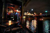 "Inside the french barge ""La Balle au Bond"", a must of the parisian nights."
