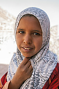 Beautiful young Bedouin girl from the B'doul tribe in Petra, Jordan.