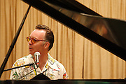 072410-Evergreen, COLORADO-jazzfest-Carl Sonny Leyland plays the piano with the Carl Sonny Leyland Trio plays during the 2010 Evergreen Jazz Fest Saturday, July 24, 2010 at the Elks Ballroom..Photo By Matthew Jonas/Evergreen Newspapers/Photo Editor