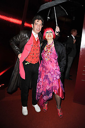 ZANDRA RHODES and DUGGIE FIELDS at the MontBlanc John Lennon Launch, The Serpentine Gallery, Kensington Gardens, London on 14th September 2010.