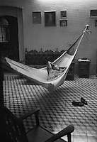 Woman in hammock, Merida, Mexico