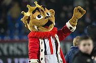 13-02-2016 VOETBAL:WILLEM II-DE GRAAFSCHAP:TILBURG<br /> <br /> Willem II mascotte Kingo<br /> <br /> Foto: Geert van Erven