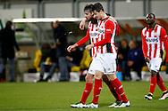 16-04-2016 VOETBAL:RODA JC - PSV:KERKRADE<br /> Davy Propper van PSV viert zijn doelpunt met Marco van Ginkel van PSV <br /> Foto: Geert van Erven