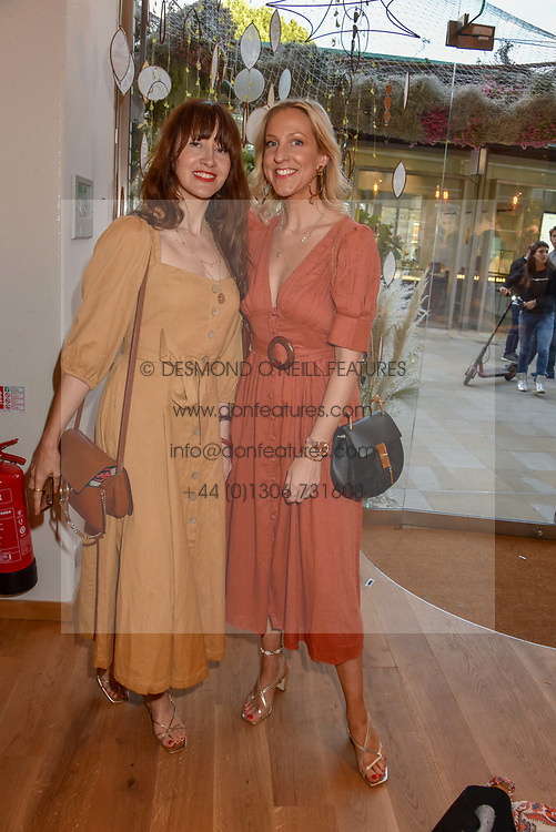 Alice Shreeve and Hannah Conian-Thompason, Fashion Boggers of Belle & Bunty at a cocktail and dinner hosted by fashion label Free People at Free People 38-39 Duke of York Square, Chelsea, London England. 21 May 2019.