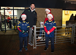 Matt Cox of Worcester Warriors meets fans in the kids zone - Mandatory by-line: Robbie Stephenson/JMP - 22/12/2017 - RUGBY - Sixways Stadium - Worcester, England - Worcester Warriors v London Irish - Aviva Premiership