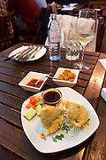 Vienna, Austria. Nam Nam Indian restaurant. Samosas.
