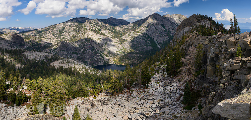 Eagle lake and Mt. Tallac as seen from the Bayview trail   in Desolation Wilderness.