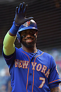 PHOENIX, AZ - MAY 16:  Jose Reyes #7 of the New York Mets waves during the MLB game against the Arizona Diamondbacks at Chase Field on May 16, 2017 in Phoenix, Arizona. The Arizona Diamondbacks won 5-4.  (Photo by Jennifer Stewart/Getty Images)