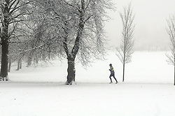 Licensed to London News Pictures 21/01/2015. Harrogate.  Snowy conditions in Harrogate, North Yorkshire today 21 January 2015. The Uk is experiencing a spell of very cold weather.<br /> Photo Credit: Sam Atkins/LNP