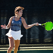 10 November 2018: The San Diego State women's tennis team competes in day two of it's Fall Tennis Classic at the Aztec Tennis Center.