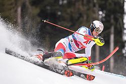 26.01.2020, Streif, Kitzbühel, AUT, FIS Weltcup Ski Alpin, Slalom, Herren, im Bild Ramon Zenhaeusern (SUI) // Ramon Zenhaeusern of Switzerland in action during his run in the men's Slalom of FIS Ski Alpine World Cup at the Streif in Kitzbühel, Austria on 2020/01/26. EXPA Pictures © 2020, PhotoCredit: EXPA/ Johann Groder