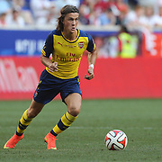 Kristoffer Olsson, Arsenal, in action during the New York Red Bulls Vs Arsenal FC,  friendly football match for the New York Cup at Red Bull Arena, Harrison, New Jersey. USA. 26h July 2014. Photo Tim Clayton