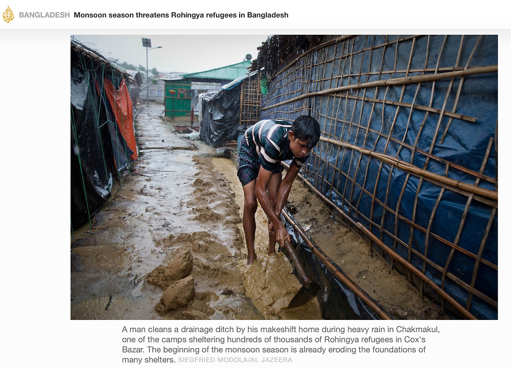 For Al Jazeera - Monsoon season threatens Rohingya refugees in Bangladesh