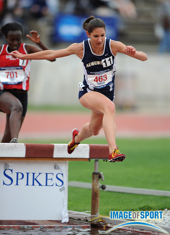 May 24, 2008; Walnut, CA, USA;  Rachel Stangler of Augustana was second in the women' steeplechase in 10:28.64 in the NCAA Division II Track & Field Championships at Mt. San Antonio College's Hilmer Lodge Stadium.