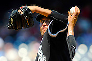 Chicago White Sox starter Freddy Garcia pitches against the Washington Nationals in the sixth inning of their Interleague MLB baseball game in Washington.