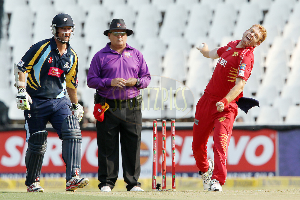 Andrew McDonald during 1st Qualifying match of the Karbonn Smart CLT20 South Africa between Uva Next and Yorkshire held at The Wanderers Stadium in Johannesburg, South Africa on the 9th October 2012..Photo by Ron Gaunt/SPORTZPICS/CLT20