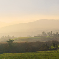 Misty Sunrise Panorama, Kerry Highlands, County Kerry, Ireland / ba072