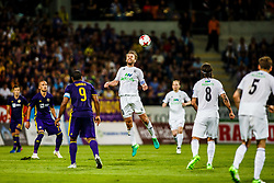 David Vidarsson #10 of FH Hafnarfjirdur during 1st Leg football match between NK Maribor (SLO) and FH Hafnarfjordur (ISL) in Third qualifying round of UEFA Champions League 2017/18, July 26, 2017, in Stadium Ljudski vrt, Maribor, Slovenia. Photo by Grega Valancic / Sportida