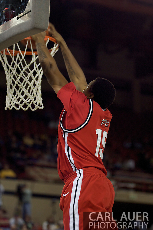 November 29, 2008: San Diego State's Kyle Spain (15) dunks early in the championship game of the 2008 Great Alaska Shootout at the Sullivan Arena.  San Diego State would keep Hampton scoreless for most of the first 7 minutes of the game and never look back on the Aztec's run to the win Saturday night.