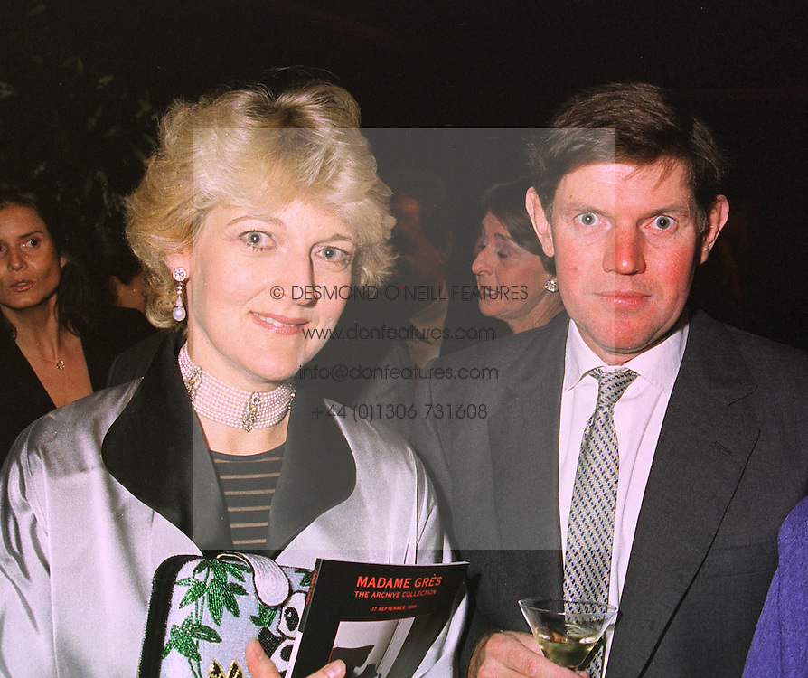 Lawyer FIONA SHACKLETON and her husband MR IAN SHACKLETON, at an exhibition in London on 14th September 1998.MJZ 22 2OLO