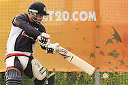 Matthew Wade of the Victorian Bushrangers plays a square cut during the Bushrangers training session held at St Georges Park in Port Elizabeth on the 17 September 2010..Photo by: Shaun Roy/SPORTZPICS/CLT20