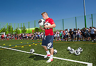 Swiss soccer player Xherdan SHAQIRI of FC Bayern Muenchen is pictured during a training session for kids at the Coca-Cola Junior League tournament in Zurich, Switzerland, Saturday, June 16, 2012. (Photo by Patrick B. Kraemer / MAGICPBK)
