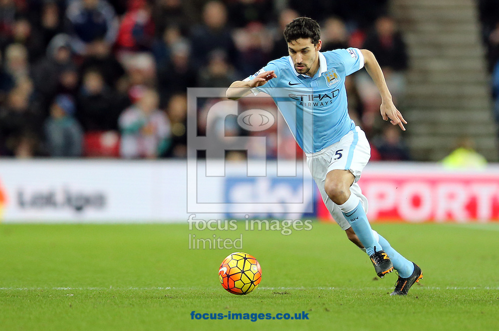 Jesus Navas of Manchester City during the Barclays Premier League match at the Stadium Of Light, Sunderland<br /> Picture by Simon Moore/Focus Images Ltd 07807 671782<br /> 02/02/2016