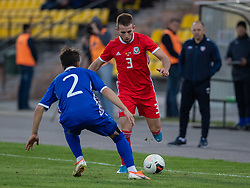 ORHEI, MOLDOVA - Friday, October 11, 2019: Wales' Rhys Norrington-Davies during the UEFA Under-21 Championship Italy 2019 Qualifying Group 9 match between Moldova and Wales at the Orhei District Sports Complex. (Pic by Kunjan Malde/Propaganda)