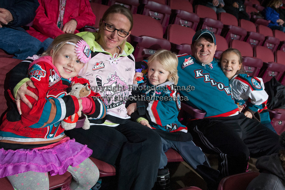 KELOWNA, CANADA -JANUARY 29: Kelowna Rockets' fans show their team support with various jerseys as the Kelowna Rockets host the Spokane Chiefs on January 29, 2014 at Prospera Place in Kelowna, British Columbia, Canada.   (Photo by Marissa Baecker/Getty Images)  *** Local Caption *** Fans