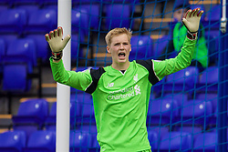 BIRKENHEAD, ENGLAND - Sunday, September 11, 2016: Liverpool's goalkeeper Caoimhin Kelleher in action against Leicester City during the FA Premier League 2 Under-23 match at Prenton Park. (Pic by David Rawcliffe/Propaganda)