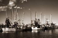 Shrimp boats in Engelhard, Hyde County, North Carolina