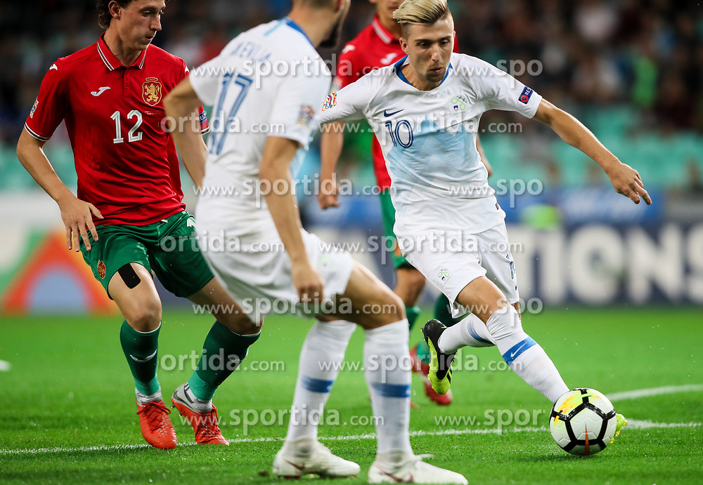 Kevin Kampl of Slovenia in action during football match between National Teams of Slovenia and Bulgaria in Final Tournament of UEFA Nations League 2019, on September 6, 2018 in SRC Stozice, Ljubljana, Slovenia. Photo by Morgan Kristan / Sportida