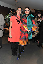 Left to right, ELLI NOROLOZIAN and CARMEN HAID at a Atelier-Mayer Private Shopping Evening held at 18 Horbury Crescent, London W11 on 20th November 2012.