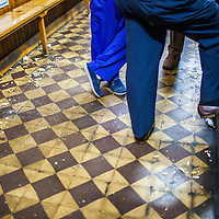 The floor of an old tavern, plenty of litter, Burgo de Osma, Soria, Spain