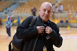 Zoran Flis, photographer during handball match between RK Cimos Koper and RK Gorenje Velenje in 25th Round of 1st NLB Leasing League 2011/12, on March 31, 2012 at Arena Bonifika, Koper, Slovenia. Gorenje Velenje defeated Cimos Koper 31-29. (Photo by Vid Ponikvar / Sportida.com)