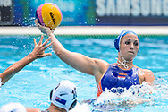24-07-2017: Waterpolo: Nieuw Zeeland v Nederland: Boedapest<br /> <br /> (L-R) Yasemin Smit of team Netherlands during the waterpolomatch between women New Zealand and Netherlands at the 17th FINA World Championships 2017 in Budapest, Hungary<br /> <br /> Photo / Foto: Gertjan Kooij