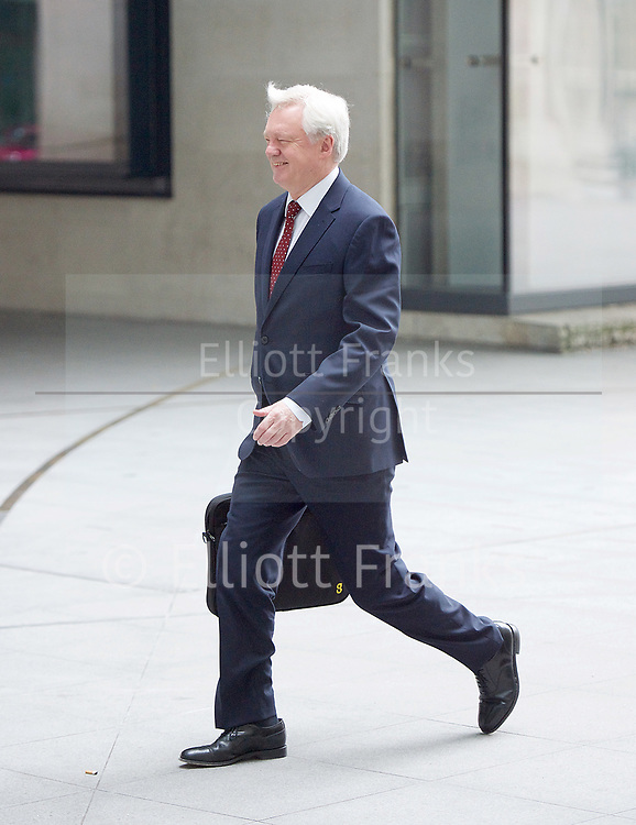 Andrew Marr Show arrivals <br /> BBC, Broadcasting House, London, Great Britain <br /> 12th March 2017 <br /> <br /> <br /> David Davis MP<br /> Secretary of State for Exiting the<br /> European Union<br /> arriving at the Marr Show <br /> <br /> Rebecca Long-Bailey MP for Salford and Eccles<br /> <br /> <br /> <br /> Photograph by Elliott Franks <br /> Image licensed to Elliott Franks Photography Services
