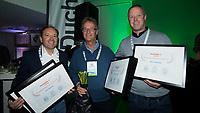 BUSSUM - NVG / NGF/ PGA congres 2018. The drive to happiness. Lee Chapman, Wouter Oosting en Martin Kanninga.  COPYRIGHT KOEN SUYK