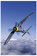 F-4U in vertical roll, aerial