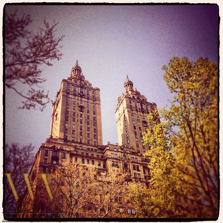 Low angle shot of the San Remo on Central Park West