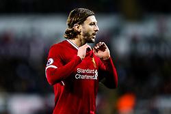 Adam Lallana of Liverpool looks frustrated - Rogan/JMP - 22/01/2018 - FOOTBALL - Liberty Stadium - Swansea, Wales - Swansea City v Liverpool - Premier League.