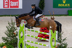 RUTSCHI Niklaus (SUI), Ambre de la Cense<br /> Genf - CHI Geneve Rolex Grand Slam 2019<br /> Prix des Communes Genevoises<br /> 2-Phasen-Springen<br /> International Jumping Competition 1m50<br /> Two Phases: A + A, Both Phases Against the Clock<br /> 13. Dezember 2019<br /> © www.sportfotos-lafrentz.de/Stefan Lafrentz