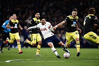 Football - 2019 / 2020 Emirates FA Cup - Fourth Round, Replay: Tottenham Hotspur vs. Southampton<br /> <br /> Tottenham Hotspur's Son Heung-Min outnumbered by Southampton defenders, at The Tottenham Hotspur Stadium.<br /> <br /> COLORSPORT/ASHLEY WESTERN