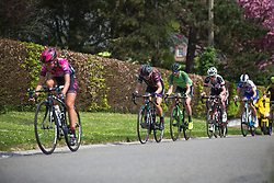 Pauline Ferrand-Prevot (FRA) of CANYON//SRAM Racing works hard to stay in the lead group during Liege-Bastogne-Liege - a 136 km road race, between Bastogne and Ans on April 22, 2018, in Wallonia, Belgium. (Photo by Balint Hamvas/Velofocus.com)