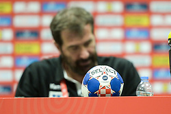 Official Ball during handball match between National teams of Slovenia and Czech Republic on Day 7 in Main Round of Men's EHF EURO 2018, on January 24, 2018 in Arena Varazdin, Varazdin, Croatia. Photo by Mario Horvat / Sportida