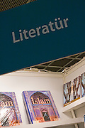 "Buchmesse Frankfurt, biggest book fair in the World. Turkey is guest country 2008: ""Literatür"" and Islam."