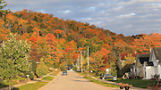 Munising is your quintessential Upper Peninsula town, with narrow streets, frame houses, and aerial telephone and electric cables. In autumn, the hillside behind the town just explodes with color. It's really quite spectacular!