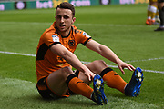 Wolverhampton Wanderers midfielder Diogo Jota (18) misses a chance during the EFL Sky Bet Championship match between Wolverhampton Wanderers and Sheffield Wednesday at Molineux, Wolverhampton, England on 29 April 2018. Picture by Alan Franklin.