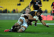 Victor Vito scores for Wellington. ITM Cup rugby union - Wellington Lions v Canterbury at Westpac Stadium, Wellington, New Zealand on Wednesday, 27 July 2011. Photo: Dave Lintott / photosport.co.nz